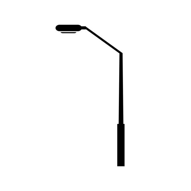 stockillustraties, clipart, cartoons en iconen met pictogram van de post van de lamp - straatlamp