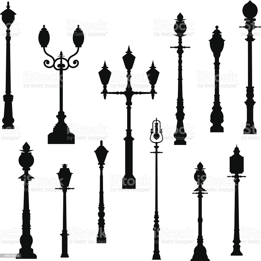 Lamp Post vector art illustration