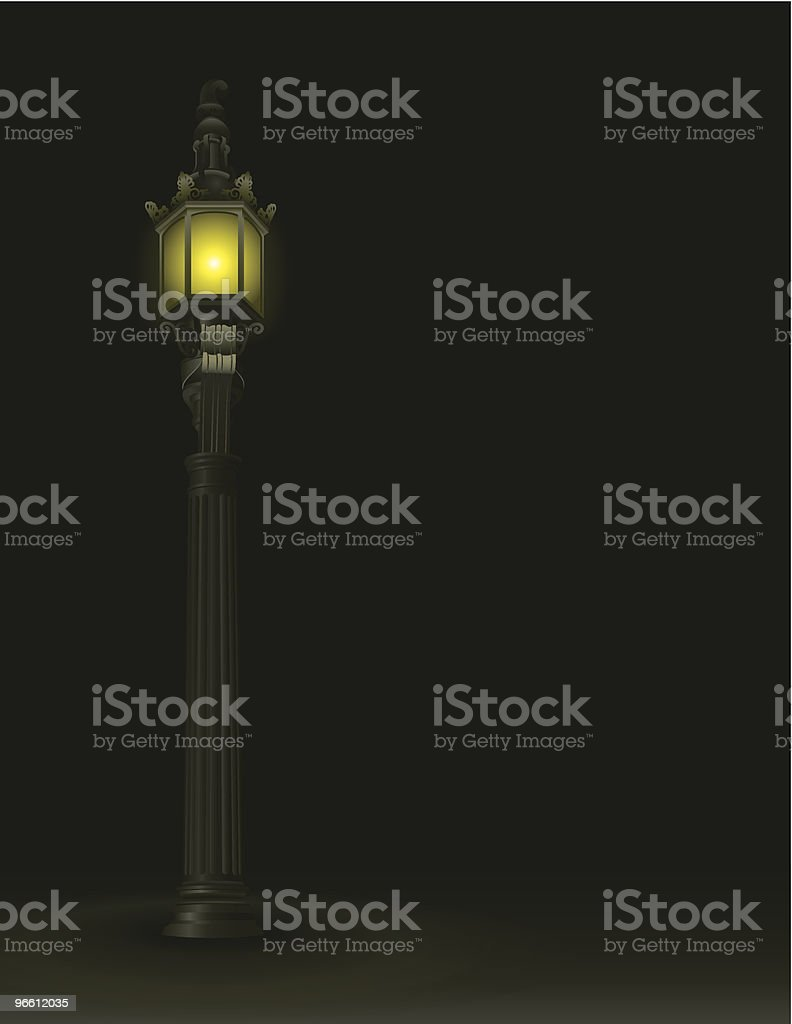 Lamp Post - Royalty-free Color Image stock vector
