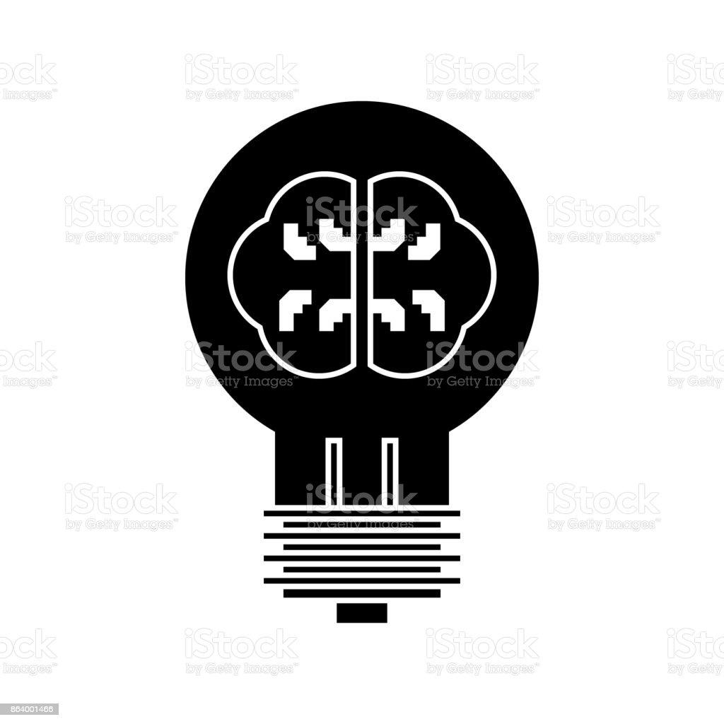 ランプ脳アイデアのアイコンベクトル イラスト孤立した背景に署名