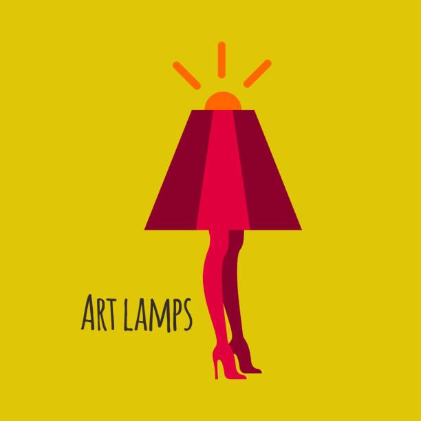 lampe mit weiblichen beine - lampenshop stock-grafiken, -clipart, -cartoons und -symbole
