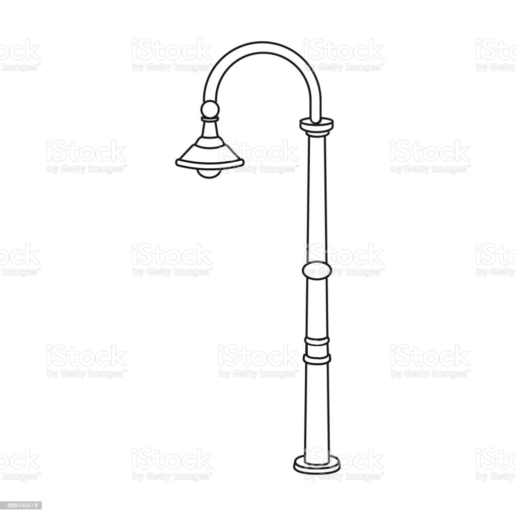 Lamppost with a conic bubble.Lamppost single icon in outline style vector symbol stock illustration web. lamppost with a conic bubblelamppost single icon in outline style vector symbol stock illustration web - stockowe grafiki wektorowe i więcej obrazów bańka royalty-free