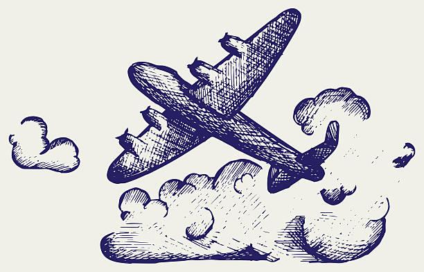 lancaster bombers - world war ii stock illustrations, clip art, cartoons, & icons