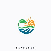 Land Scape Man And Sunset Illustration Vector Template. Suitable for Creative Industry, Multimedia, entertainment, Educations, Shop, and any related business.