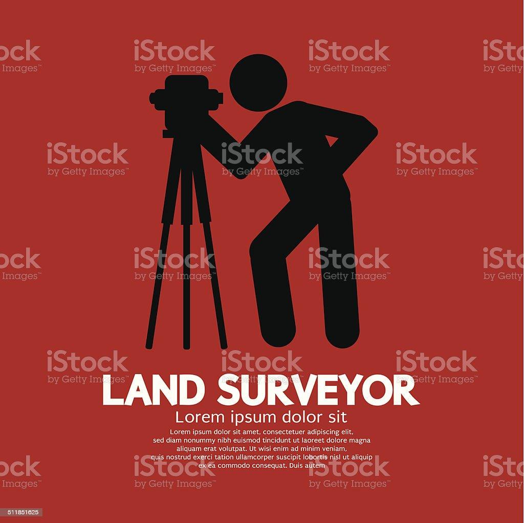 Land Surveyor Black Graphic Symbol Vector Illustration vector art illustration