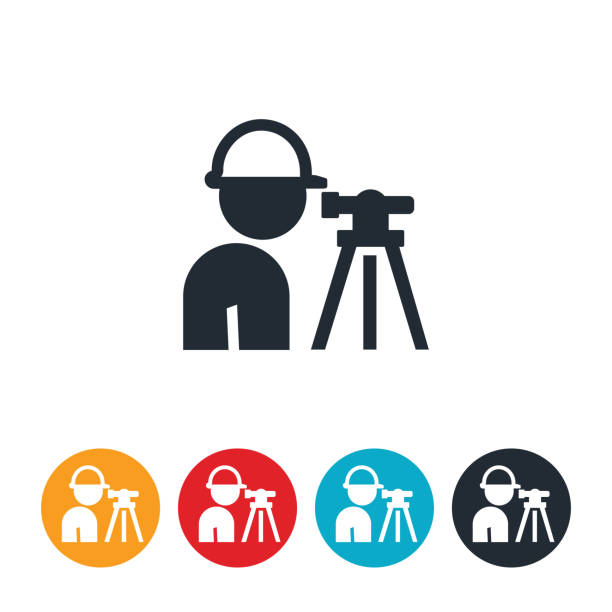 Best Surveying Equipment Illustrations, Royalty-Free