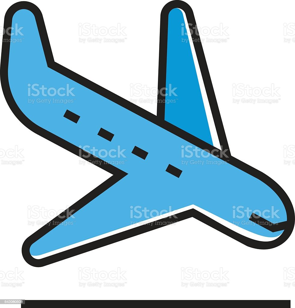 landing airplane icon stock vector art more images of aerospace rh istockphoto com