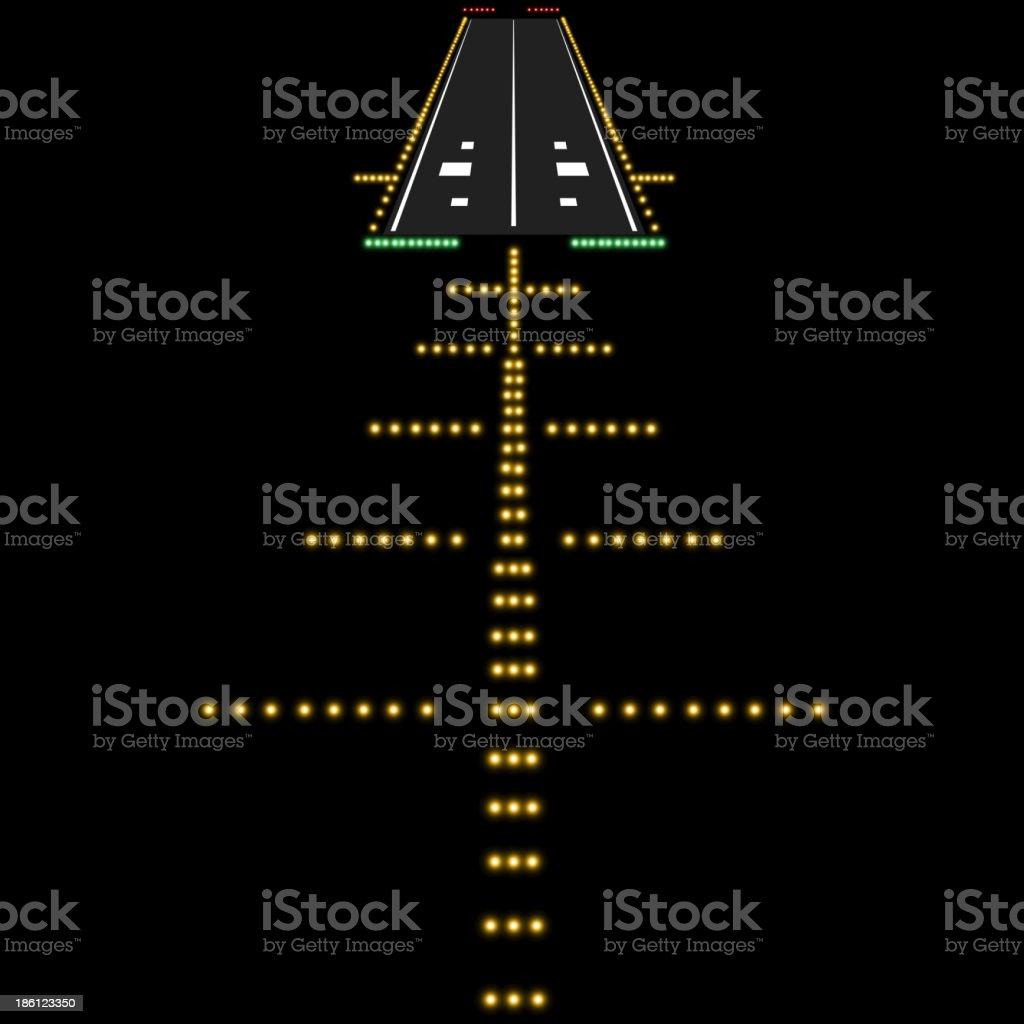 Landing lights vector art illustration