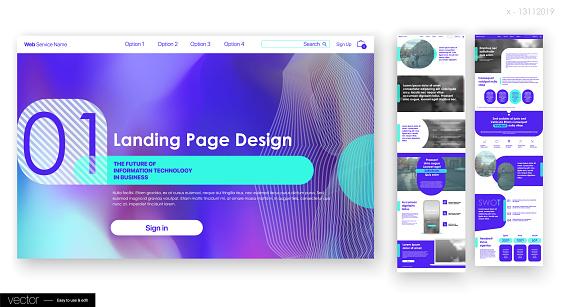 Landing Page Design from Website. Web UI UX Design.