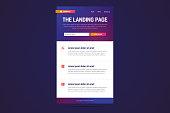 Landing page design in modern gradient style.