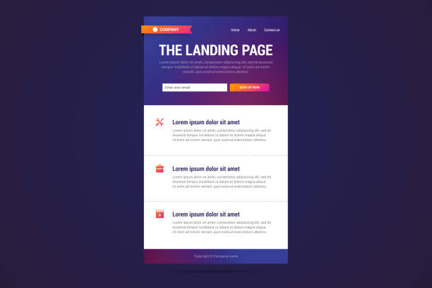 landing page design in modern gradient style. - email templates stock illustrations