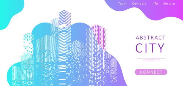 Landing page for a website vector art illustration