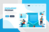 Landing page for scholarship education program, open donations and funding for outstanding student, Low interest loans for educational institutions, tuition fees. for banner, web, website, mobile apps