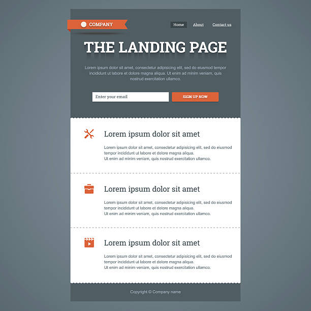landing page in flat style. - email templates stock illustrations