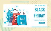 Landing Page Inviting on Black Friday Online Sale