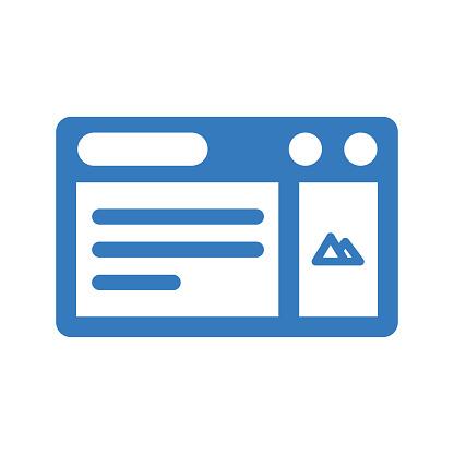 Landing Page Optimization Icon / Blue Color