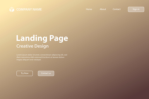Landing page Template - Abstract blurred background - defocused Brown gradient