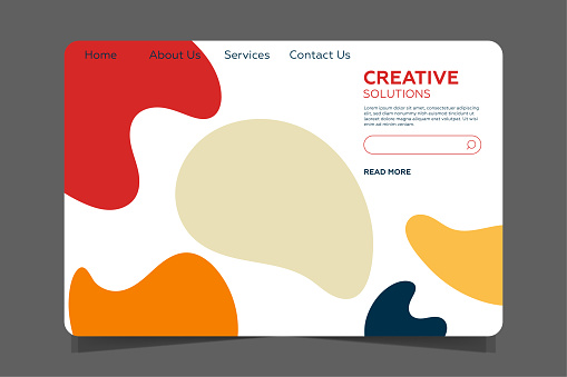 Landing page Template - Abstract design with geometric shapes