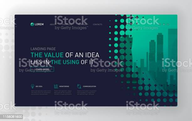 Landing page template for business vector id1158081600?b=1&k=6&m=1158081600&s=612x612&h=sjuznonqsd7xbbuyhu9mopcjn4yv ltncskxylxf1wo=