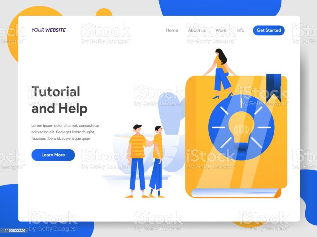 Landing Page Template Of Tutorial And Help Illustration Concept Modern Design Concept Of Web Page Design For Website And Mobile Websitevector Illustration Eps 10 Stock Illustration Download Image Now Istock
