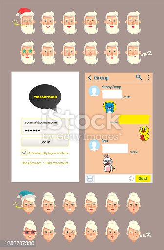 istock Landing page template, virtual augmented reality 10-1 1282707330