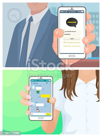 istock Landing page template, virtual augmented reality 10-1 1284725960
