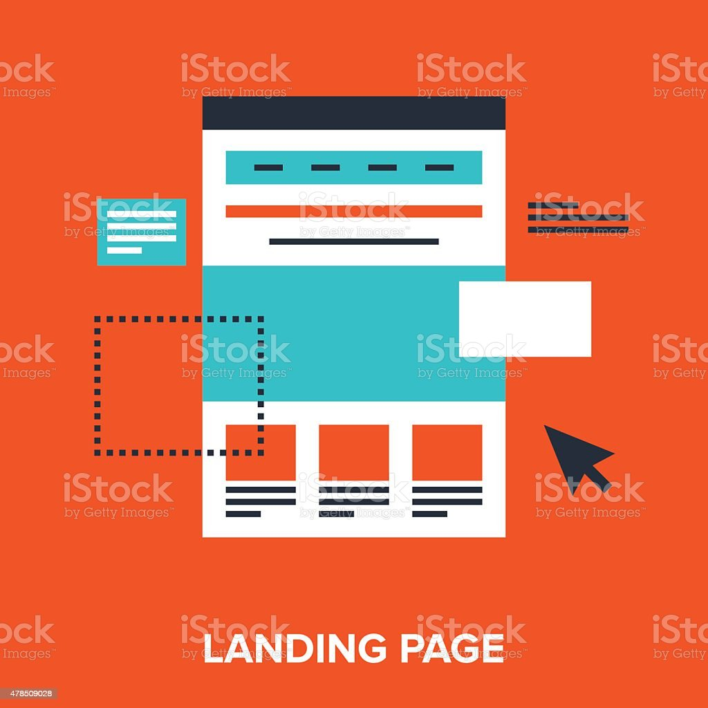 landing page vector art illustration