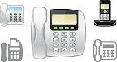 Landline phone object icons
