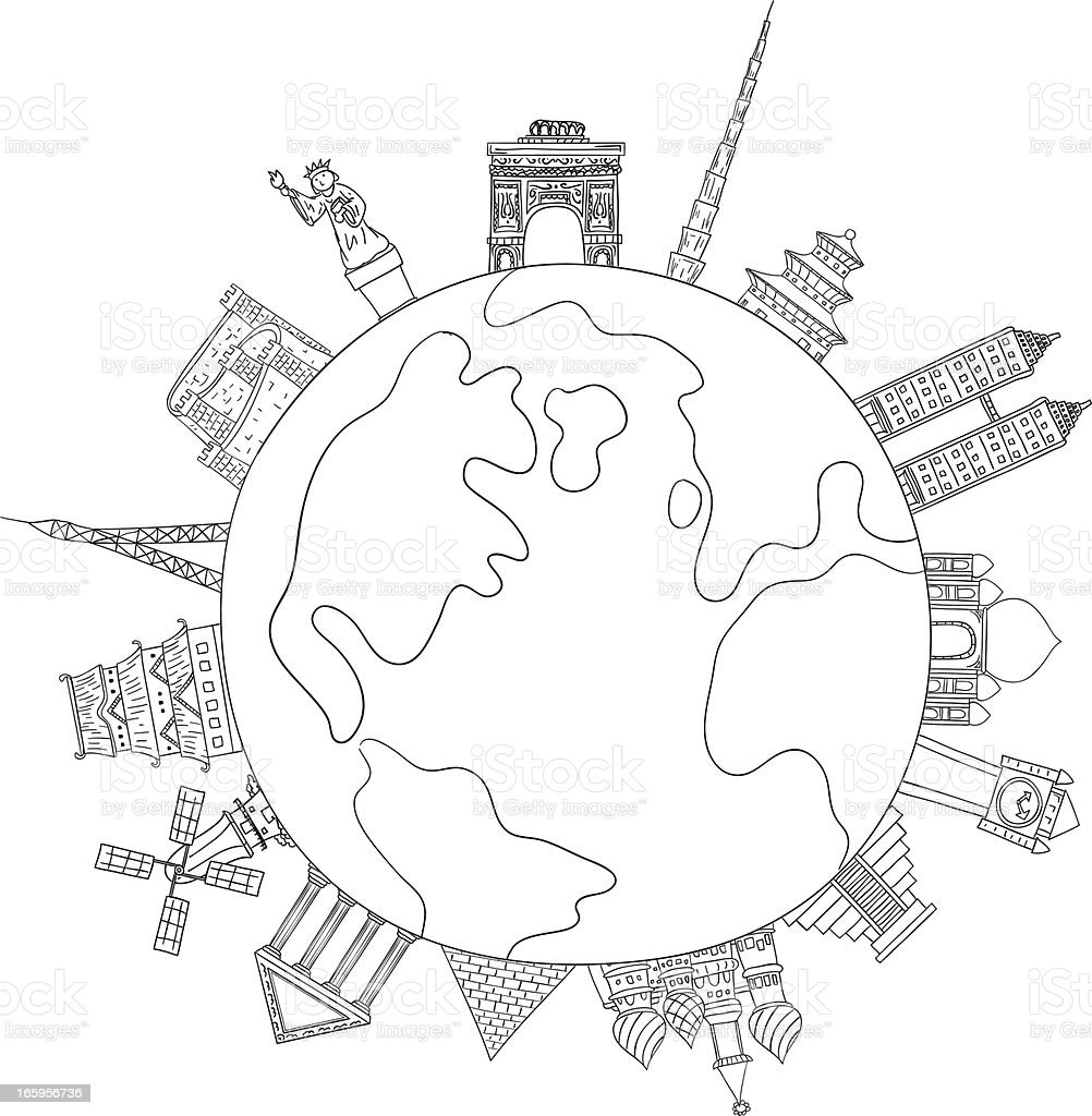 Landmark around the world illustration royalty-free landmark around the world illustration stock vector art & more images of architecture