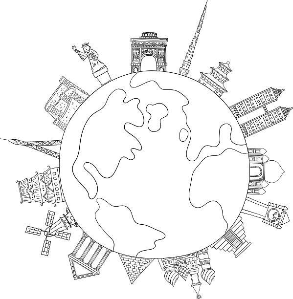 ilustrações, clipart, desenhos animados e ícones de marco em todo o mundo de ilustrações - mapa do oriente médio