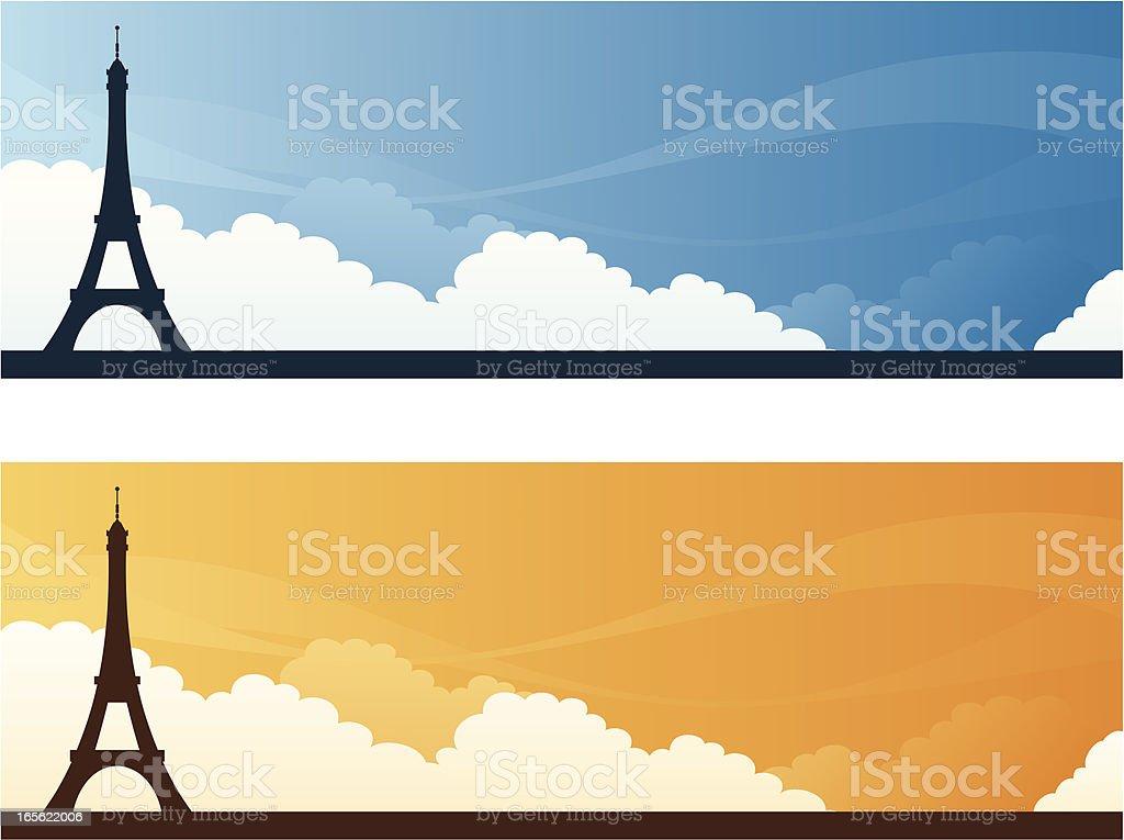 Landmark Banners - Paris royalty-free stock vector art