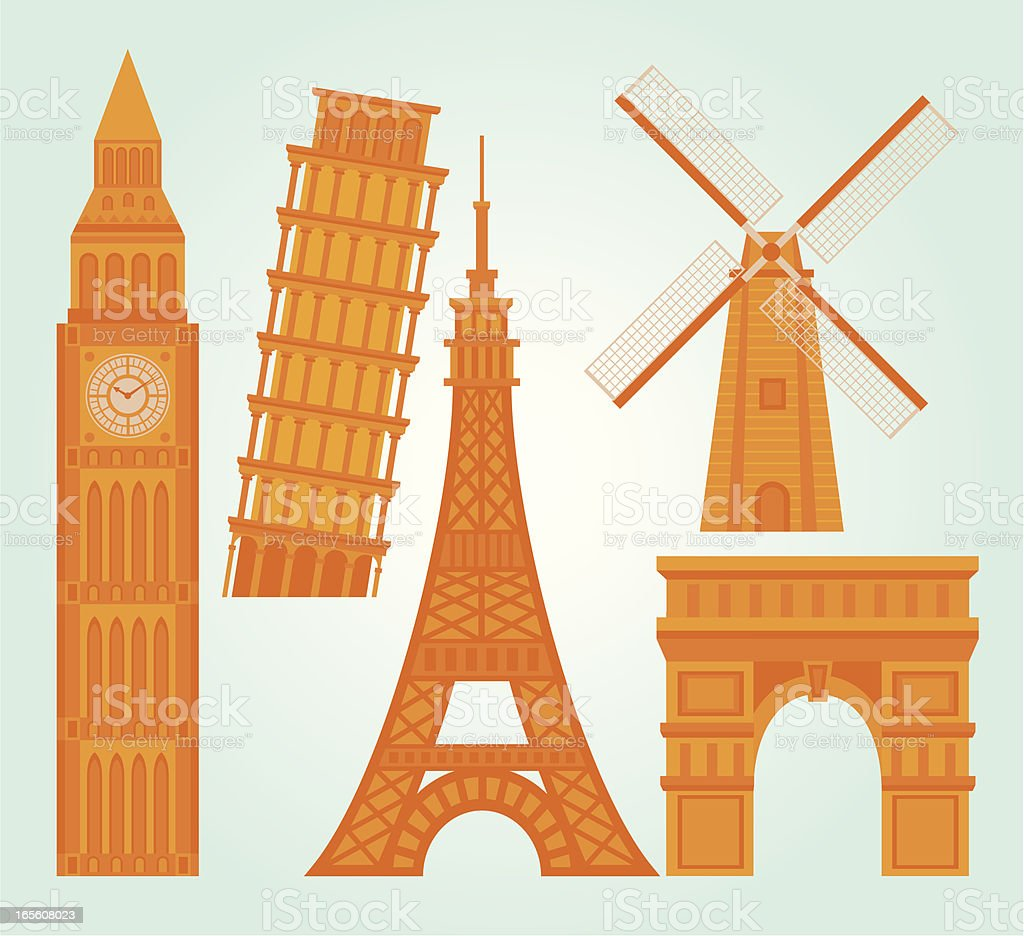 Landmark Collection royalty-free landmark collection stock vector art & more images of arc de triomphe - paris