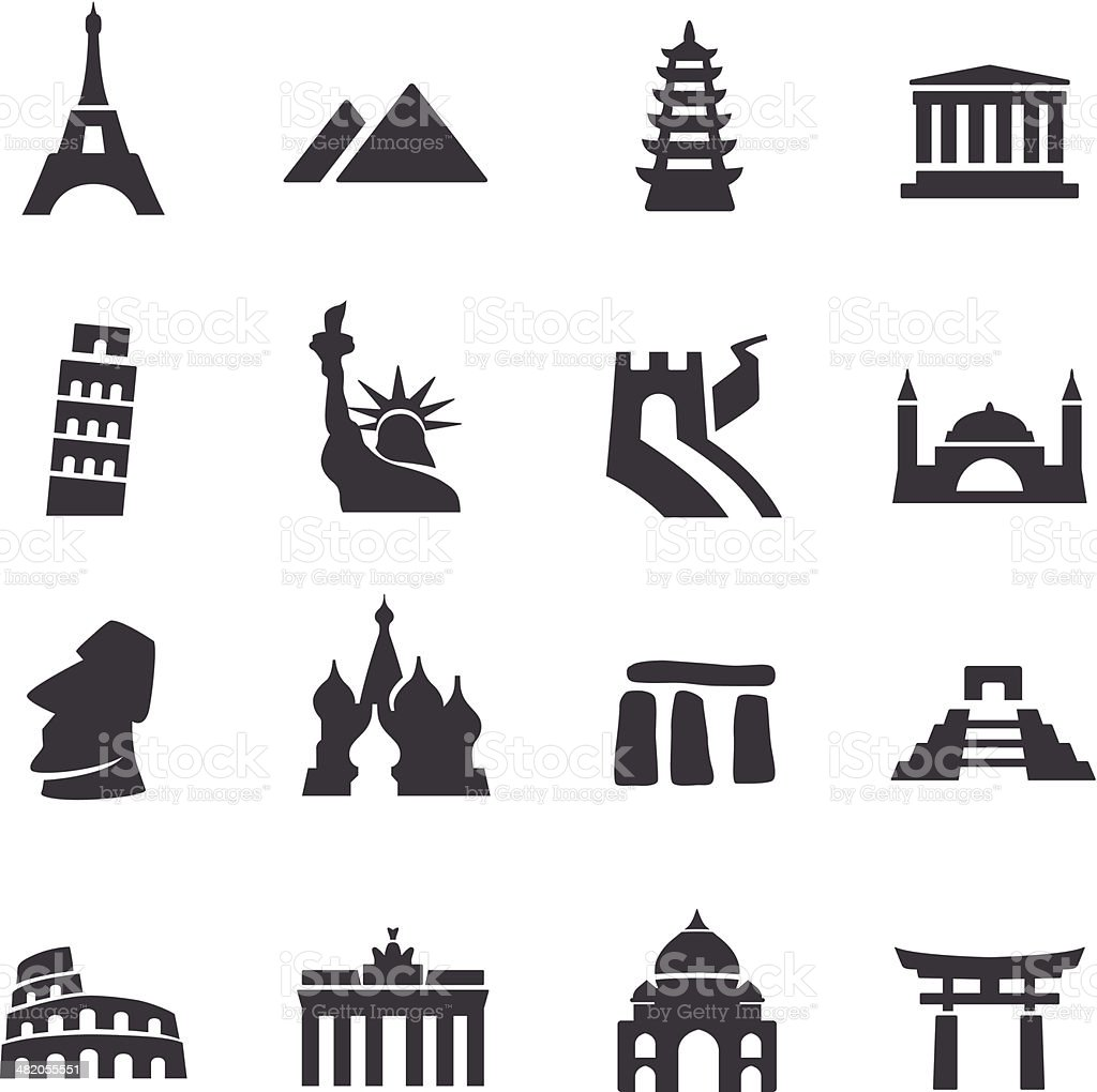 Landmark Icons - Acme Series vector art illustration