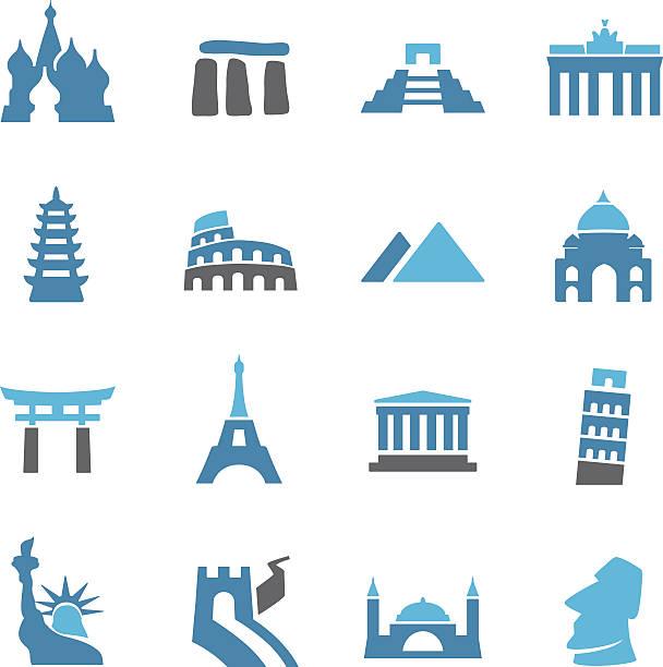 Landmark Icons - Conc Series View All: kremlin stock illustrations