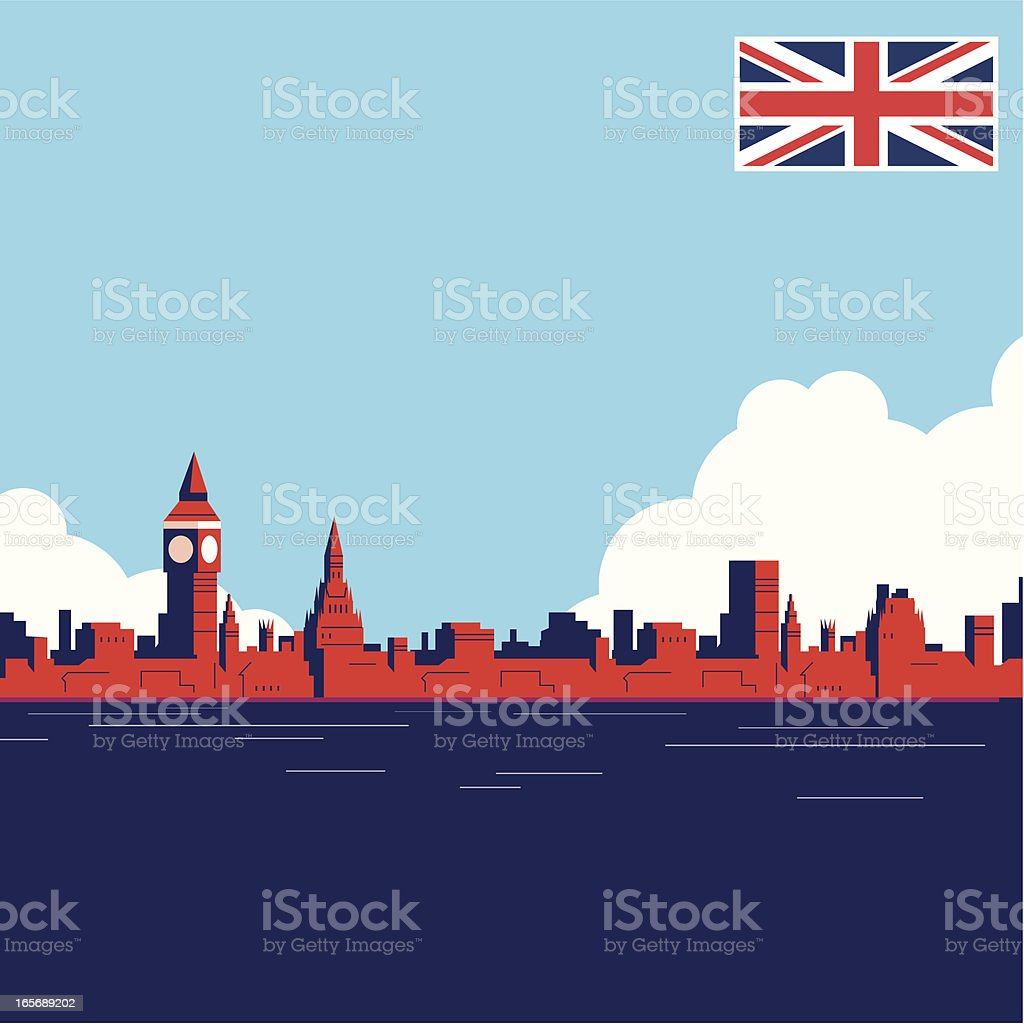 UK Landmark THAMES vector art illustration