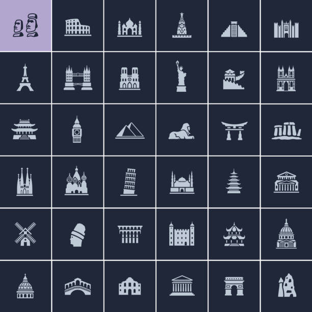 landmark travel icons - europe travel stock illustrations, clip art, cartoons, & icons