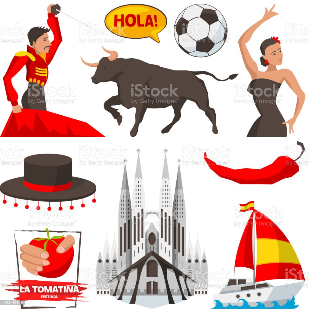 Landmarks and cultural objects and symbols of spain barcelona stock landmarks and cultural objects and symbols of spain barcelona royalty free landmarks and cultural objects buycottarizona Images