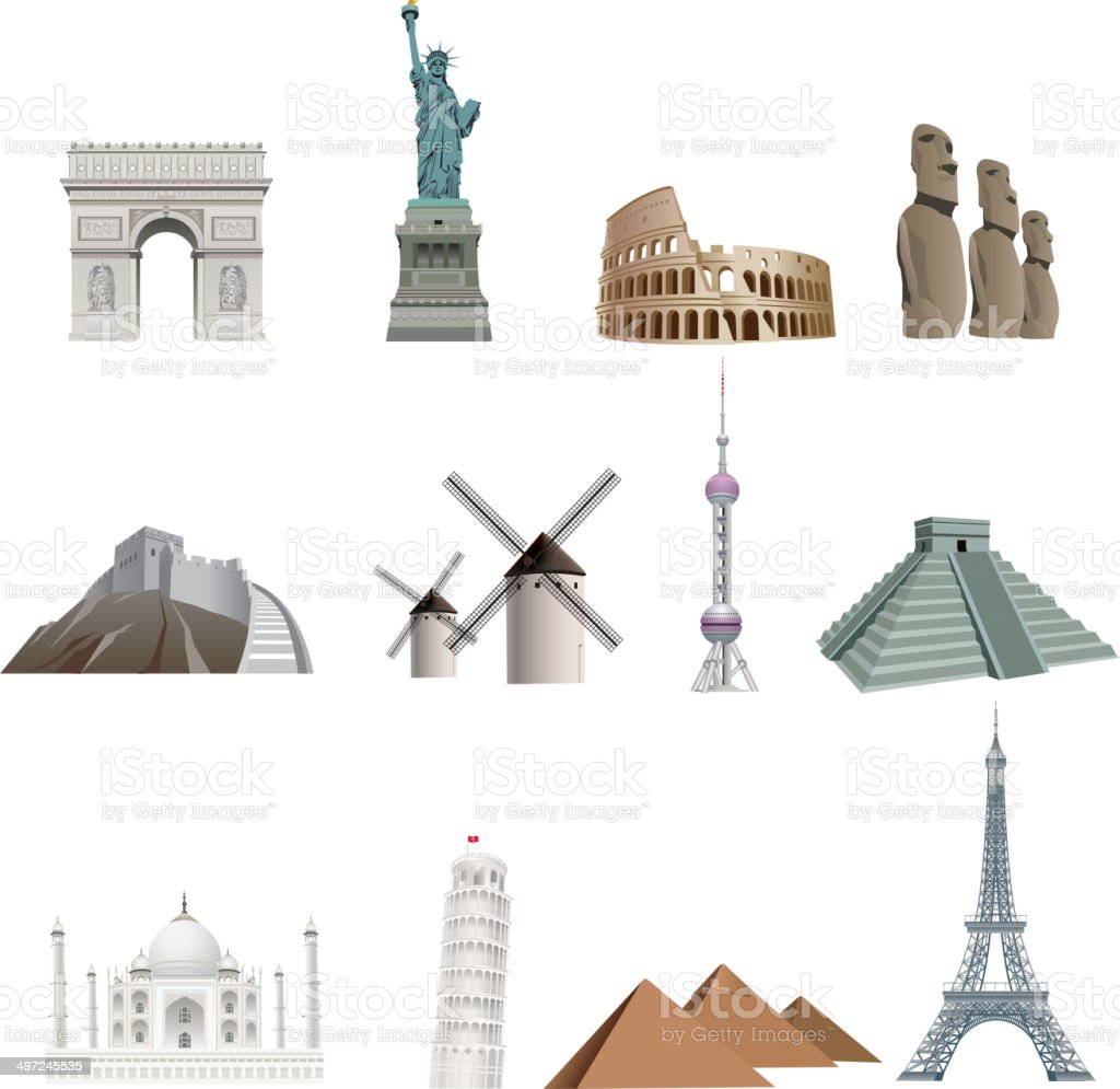 Landmarks vector art illustration