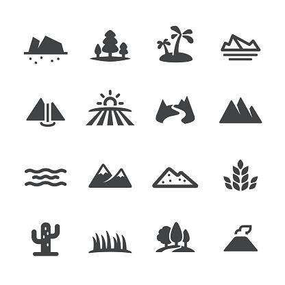 Landscape and Landform Icons - Acme Series