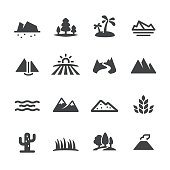 Landscape and Landform Icons - Acme Series