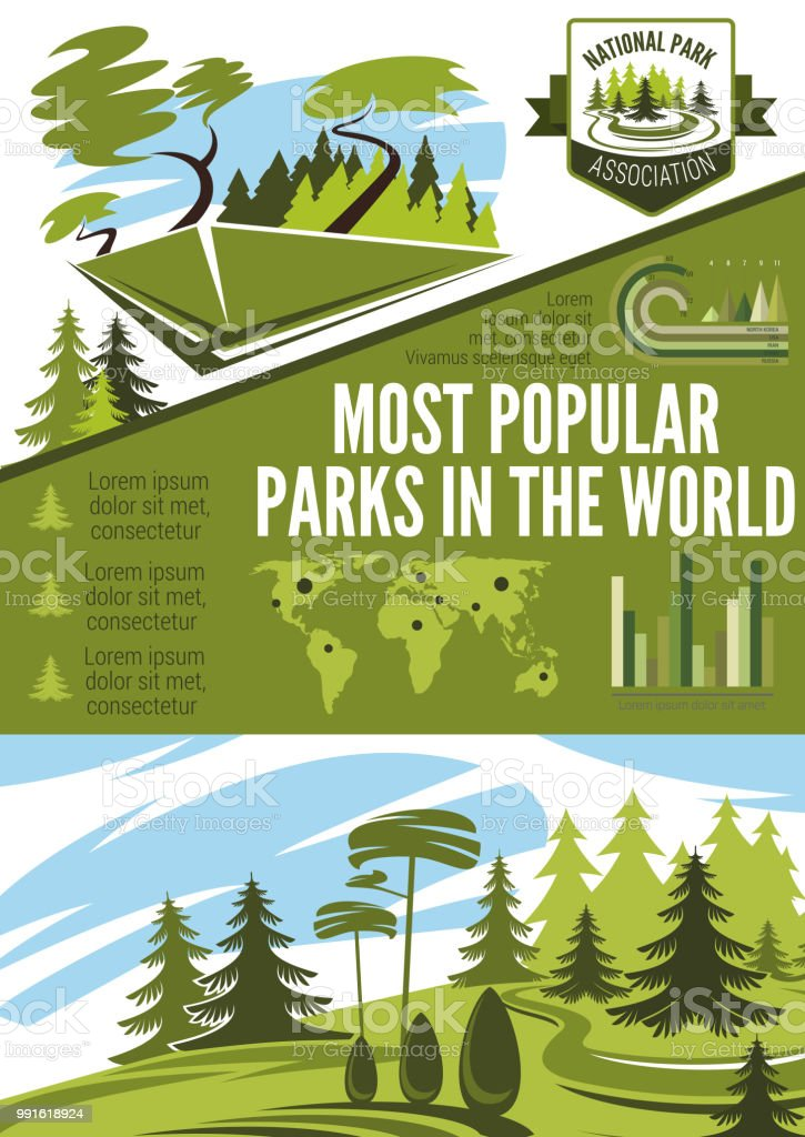 Landscape architecture or horticulture infographic vector art illustration