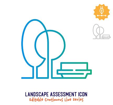 Landscape Assessment Continuous Line Editable Stroke Line