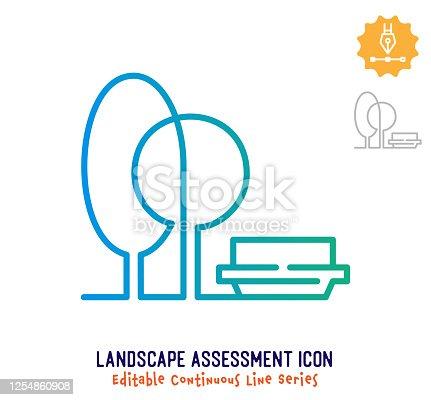 istock Landscape Assessment Continuous Line Editable Stroke Line 1254860908