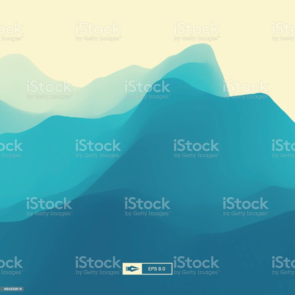 Landscape Background. 3d Abstract Vector Illustration. vector art illustration