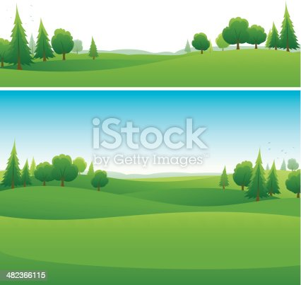 two green horizontal landscape background designs