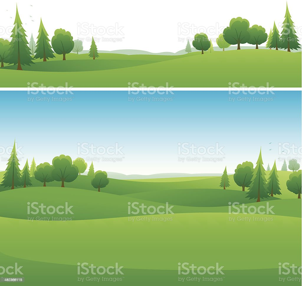 Landscape background designs vector art illustration