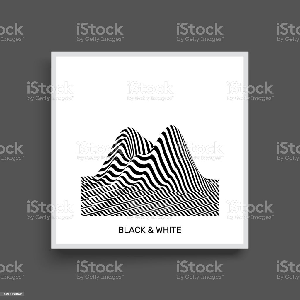 Ilustración de Fondo De Paisaje Terreno Fondo Blanco Y Negro Patrón ...