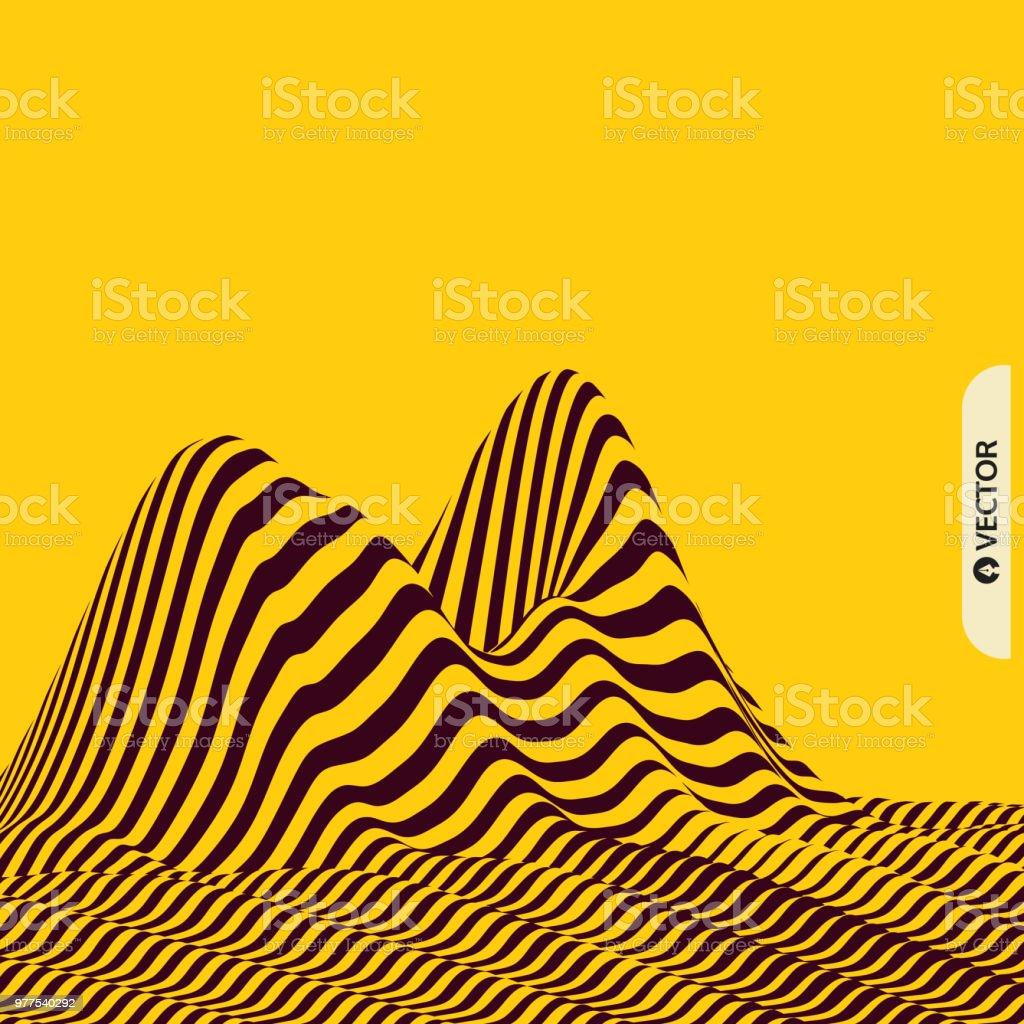 Ilustración de Fondo De Paisaje Terreno Patrón Con Ilusión óptica 3d ...