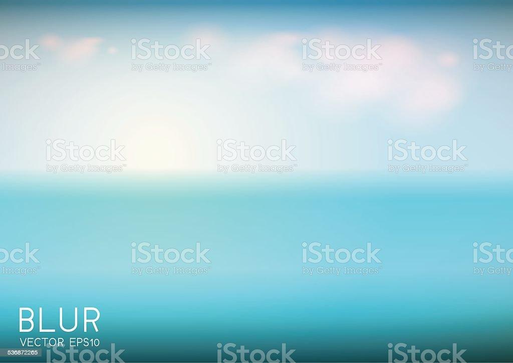 landscape blurred background vector art illustration