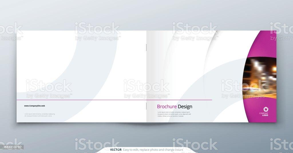 Landscape Brochure Design Pink Magenta Fashion Beauty Rectangle - Fashion brochure templates